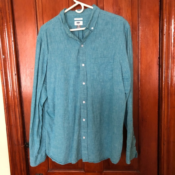 Old Navy Other - Teal Linen Blend Button Down